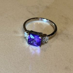 3/$45 - Amethyst Colour Sterling 925 Silver Ring